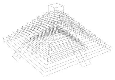 Rhino model showing the inner pyramid