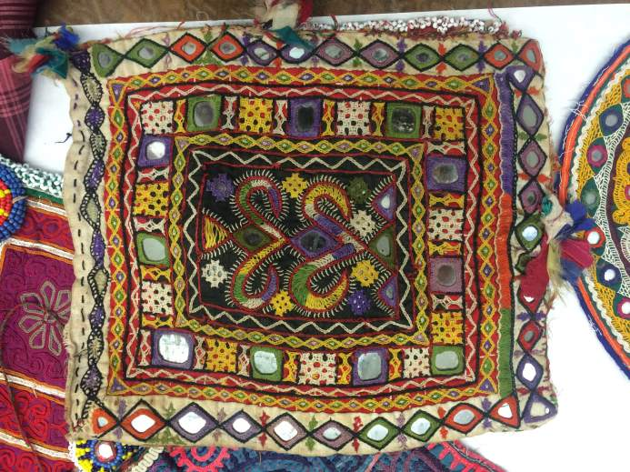 Traditional Kutch embroidery from Gujarat, India