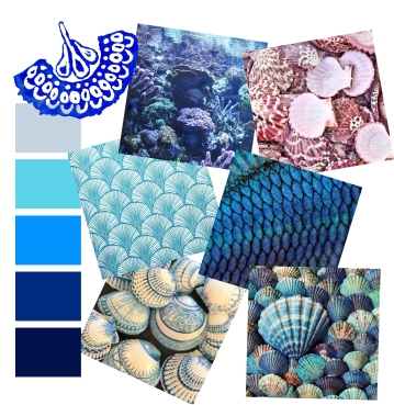 Scalloped Scales - Mood board