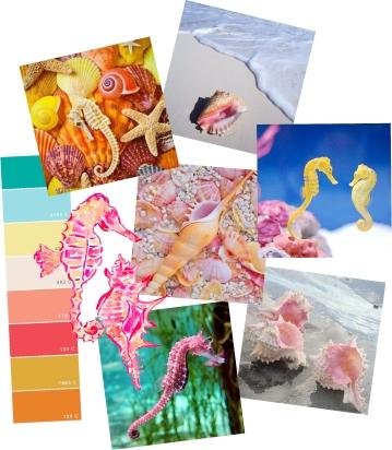 Seahorse Shore - Mood board