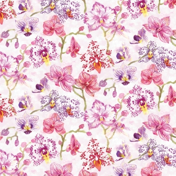 Orchid repeat pattern