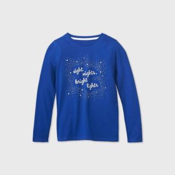 Girls' 'Eight Nights, Bright Lights' Graphic T-Shirt - Cat & Jack