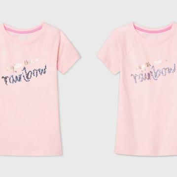 """Girls' Flip Sequin """"Brighter than a Rainbow"""" T-Shirt - Cat & Jack"""