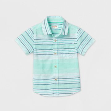 Toddler Boy Striped Button-Down Shirt - Cat & Jack