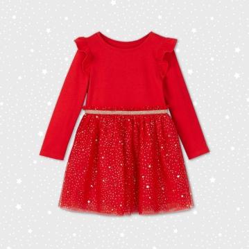 Toddler Girls' Foil Tulle Dress - Cat & Jack
