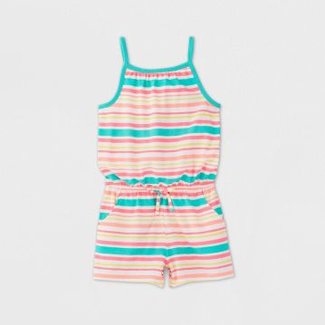 Toddler Girl Striped Romper - Cat & Jack
